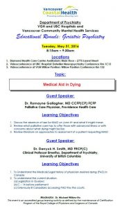 Geriatric Educational Rounds  Tuesday May 31, 2016