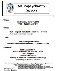 BCNP Grand Rounds Wednesday June 1st