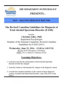 BCCH Psychology Rounds – Wednesday  June 22