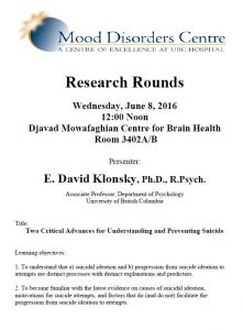 MDC Research Rounds -Wednesday June 8th