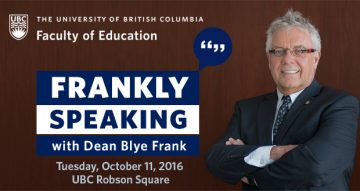 President Ono to speak on Mental Health Literacy at Frankly Speaking Tuesday October 11th