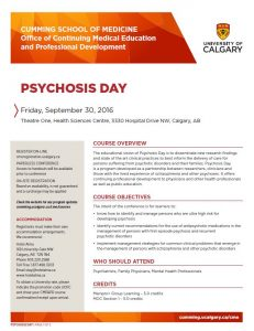 Psychosis Day Conference CME Event