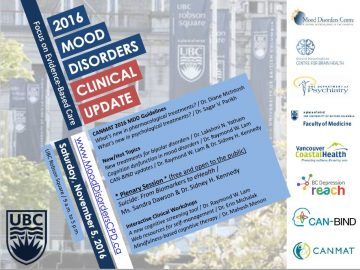 2016 Mood Disorders Clinical UpdateSaturday November 5th
