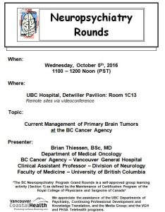 BCNP Grand Rounds Wednesday October 5th
