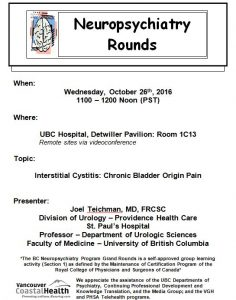 BCNP Grand Rounds: Wednesday October 26