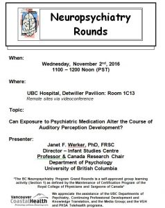 BC Neuropsychiatry Rounds for Tuesday  November 2nd