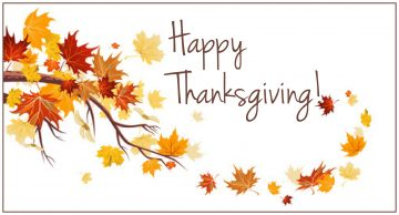 Statutory Holiday Alert: Thanksgiving Day  Monday October 10th