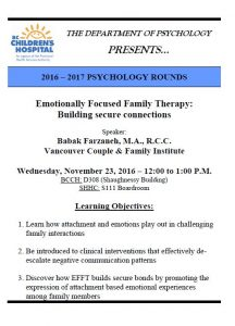 BCCH Psychology Rounds Wednesday November 23rd