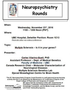 BCNP Grand Rounds Wensday November 23rd