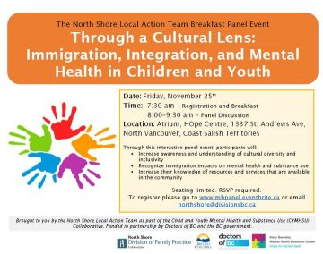 HOpe Centre: LAT ( Local Action Team ) Multicultural Breakfast Panel Event: Friday Nov 25