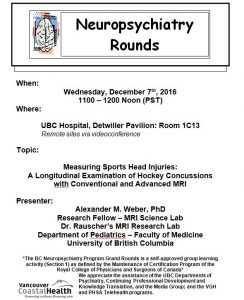 BCNP Grand Rounds  Wednesday  December 7th