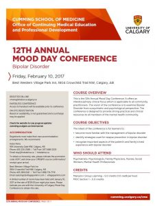 University of Calgary 12th Annual Mood Day Conference CME Event