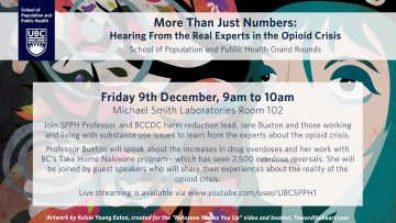 "SPPH  Presentation ""More Than Just Numbers: Hearing From the Real Experts in the Opioid Crisis"""