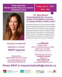 HOpe Mental Health Breakfast Friday January 27th