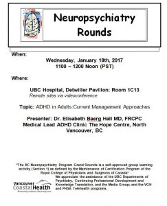 BC Neuropsychiatry Rounds  Wednesday  January 18th  2017