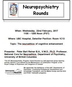 BC Neuropsychiatry Program Grand Rounds Wednesday, 22nd  February