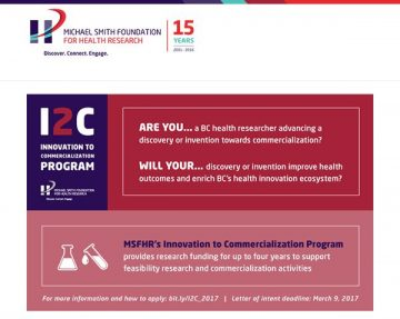 New research funding opportunity: Innovation to Commercialization Awards
