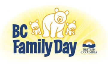 Monday February 13th BC Statutory Holiday – Family Day