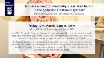 "SPPH """"Is there a need for medically-prescribed heroin in the addiction treatment system?"""