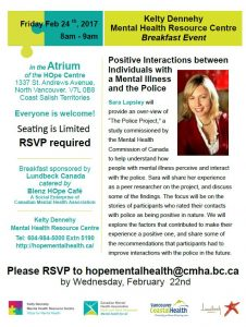 HOpe Centre  Breakfast Talk: Positive Interactions with the Police – Friday February 24th