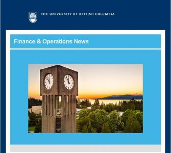 UBC  Finance & Operations News: