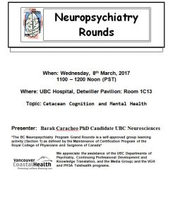 BC Neuropsychiatry Grand Rounds  Wednesday 8th March