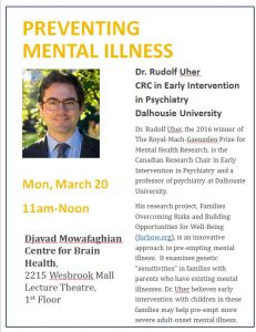 CBH – Preventing Mental Illness – Lecture March 20
