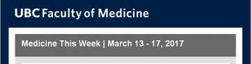 FoM Medicine This Week | March 13 – 17, 2017