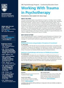 Working with Trauma in Psychotherapy