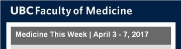 FoM Medicine This Week | April 3 – 7, 2017