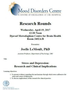 MDC Research Rounds – Friday April 19, 2017