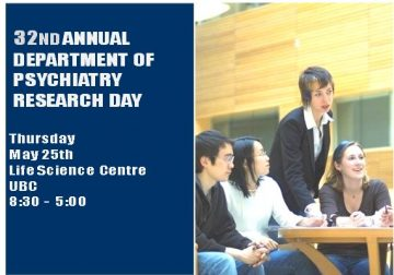 32nd Annual Department Research Day Thursday May 25th