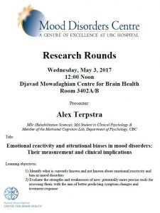 MDC Research Rounds – May 3, 2017 – 12:00 noon