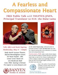 Public Talk with Thupten Jinpa, Principal Translator to H.H. the Dalai Lama