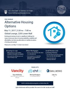 "UBC Faculty Staff Housing and Relocation Services Seminar ""Alternative Housing Options"""