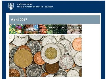 Healthy UBC Newsletter: April 2017