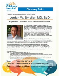 Revised: Psychiatric Disorders Talk At Children's Hospital on May 19th at 10am