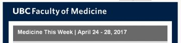 FoM Medicine This Week | April 24 – 28, 2017