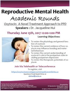 Reproductive Mental Health Rounds: Thursday June 15, 201