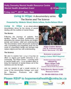 HOpe Centre Friday June 2nd Mental Health Breakfast