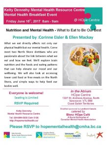 Kelty Dennehy Mental Health Resource Centre Friday June 16th Mental Health Breakfast