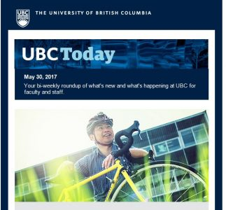 UBC Today :The latest from Professor Ono's blog, UBC Farm Markets return, and meet Alex Bigazzi