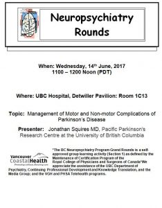 Invite to BC Neuropsychiatry Rounds Wednesday June 14th