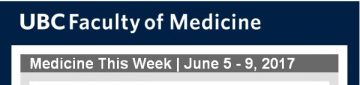 FoM Medicine This Week | June 5 – 9, 2017