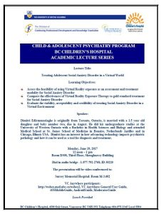 Child & Adolescent Psychiatry Academic Rounds Monday  June 19th