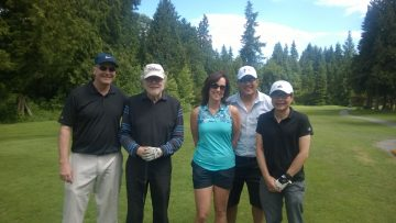 Department members at the UBC Alumni Golf Tournament last Wednesday.