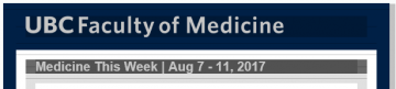 FoM Medicine This Week | Aug 7 – 11, 2017