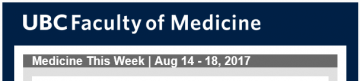 FoM Medicine This Week | Aug 14 – 18, 2017