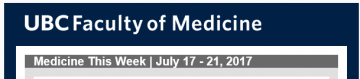 FoM Medicine This Week | July 17 – 21, 2017