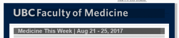 Medicine This Week | Aug 21 – 25, 2017